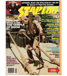 Starlog Magazine N°83 - June 1984 with Harrison Ford in Indiana Jones and the Temple of Doom