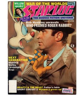 Starlog Magazine N°133 - Vintage August 1988 issue with Bob Hoskins and Roger Rabbit