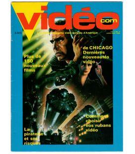 Videocom - Juillet 1985 - Ancien magazine vidéo québécois avec Blade Runner