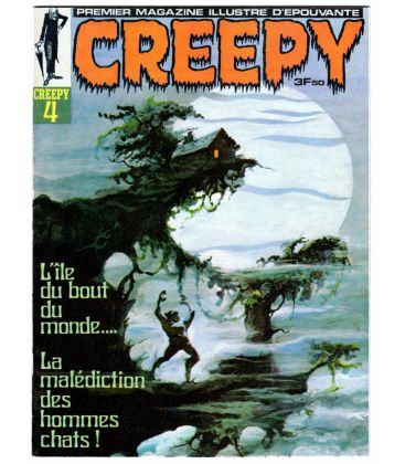 Creepy Magazine N°4 - Vintage 1970 French issue, cover by Tom Sutton