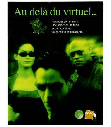 Brochure des magasins FNAC spéciale Matrix - 2000 - Catalogue français avec Keanu Reeves et Laurence Fishburne