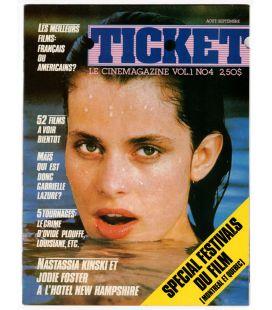 Ticket - Août 1983 - Ancien magazine québécois avec Nastassja Kinski