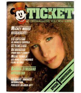 Ticket - Décembre 1983 - Ancien magazine québécois avec Barbra Streisand