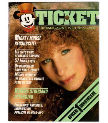 Ticket Magazine - Vintage December 1983 issue with Barbra Streisand