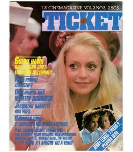 Ticket - Avril 1984 - Ancien magazine québécois avec Goldie Hawn