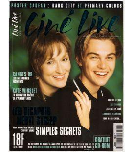 Ciné Live N°14 - Juin 1998 - Magazine français avec Meryl Streep et Leonardo DiCaprio