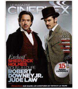 Cineplex Magazine - December 2011 issue with Robert Downey Jr. and Jude Law