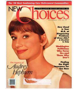 New Choices - Novembre 1995 - Magazine américain avec Audrey Hepburn