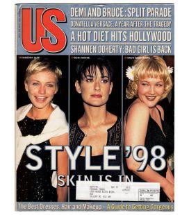 US Magazine N°248 - Septembre 1998 - Magazine américain avec Cameron Diaz, Demi Moore et Drew Barrymore