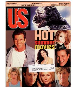 US Magazine N°245 - June 1998 - US Magazine with Mel Gibson, Godzilla and Gwyneth Paltrow