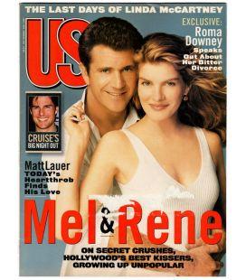 US Magazine N°246 - Juillet 1998 - Magazine américain avec Mel Gibson et Rene Russo