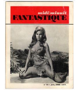 Midi Minuit Fantastique - 14 - Juin 1966 - Ancien magazine français avec Raquel Welch