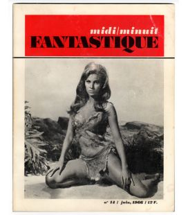 Midi Minuit Fantastique Magazine - 14 - Vintage June 1966 issue with Raquel Welch