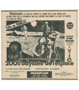 2001 l'odyssée de l'espace - Ancienne publicité originale de journal québécois