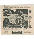 2001 A Space Odyssey - Vintage French Canadian Newspaper advertisement