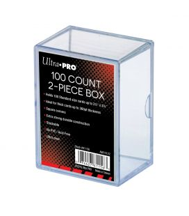 2-Piece 100 Count Clear Card Storage Box - Ultra-Pro