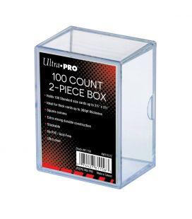 Boite en plastique 2 partie pour 100 cartes de collection - Ultra-Pro