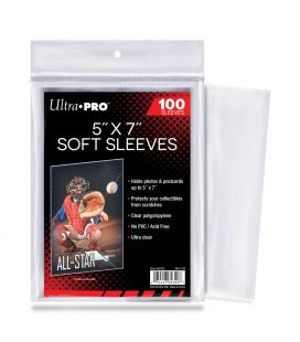 "5"" x 7"" Soft Sleeves - Ultra Pro - Pack of 100"