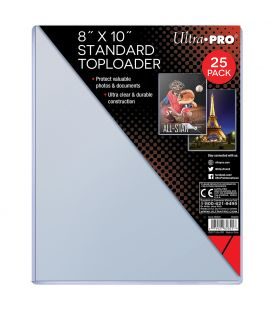 "Plastique de protection rigide 8"" x 10"" - Ultra Pro Toploader - Paquet de 25"
