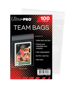Team Bags Resealable Sleeves - Ultra Pro - Pack of 100