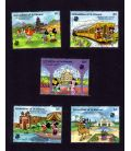 Disney - Set of 5 stamps from Grenadines of St. Vincent - Mickey's visit to India