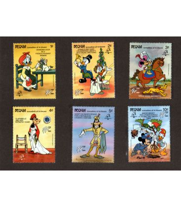 Disney - Set of 6 stamps from Bequia - Philex France 1989
