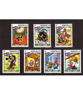 Disney - Ensemble de 7 timbres de Anguilla - Dickens' Christmas Stories