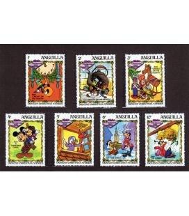 Disney - Set of 7 stamps from Anguilla - Dickens' Christmas Stories