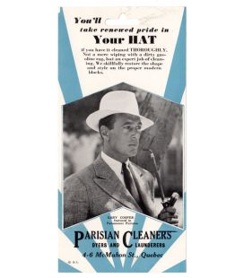 Gary Cooper - Vintage Original Advertisement for Parisian Cleaners laudrette