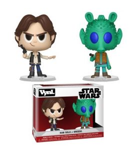 Star Wars - Han Solo and Greedo - Set of 2 Bobble Heads Funko Vynl
