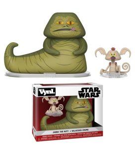 Star Wars - Jabba the Hutt and Salacious Crumb - Set of 2 Bobble Heads Funko Vynl