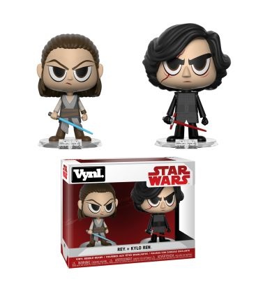 Star Wars: Episode VII - The Force Awakens - Rey and Kylo Ren - Set of 2 Bobble Heads Funko Vynl