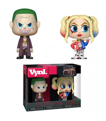 Suicide Squad - The Joker and Harley Quinn - Vynl Boxset Figures