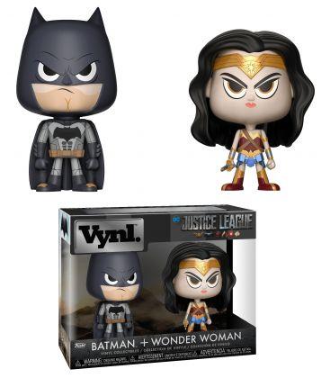 Justice League - Batman and Wonder Woman - 2 Pack Vynl Boxset Figures