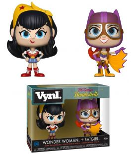 DC Comics Bombshells - Wonder Woman and Batgirl - 2 Pack Vynl Boxset Figures