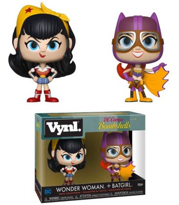 DC Comics Bombshells - Wonder Woman and Batgirl - 2 Pack Vynl Boxset Figures
