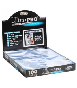 Pack with 100 4-Pocket Pages - Ultra-Pro - Platinum Series