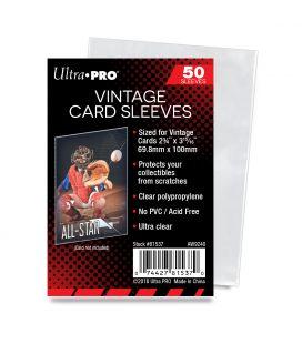"""Pochette de protection pour anciennes cartes """"Vintage"""" - Paquet de 50 - Ultra-Pro"""