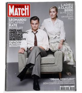 Paris Match Magazine N°3113 - January 15, 2009 issue with Leonardo DiCaprio and Kate Winslet