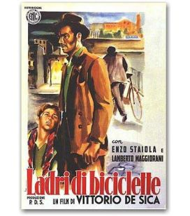 "Bicycle Thief - 27"" x 40"" - Italian Poster"