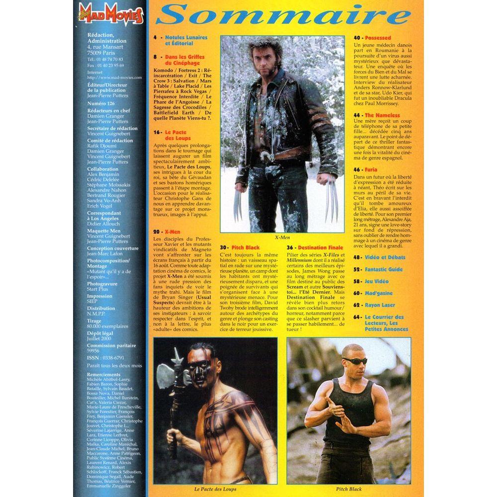 Magazine Apprendre La Photo mad movies magazine n°126 - july 2000 - french magazine with